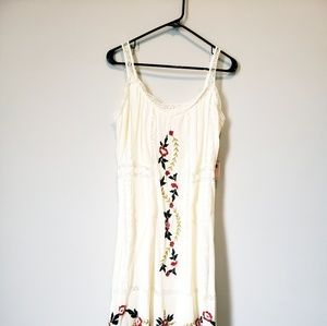 Nanette Lepore Embroidered Trim Midi Dress